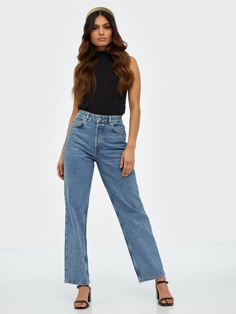 Selected Femme Slfkate Hw Straight Rail Blue Jeans Straight