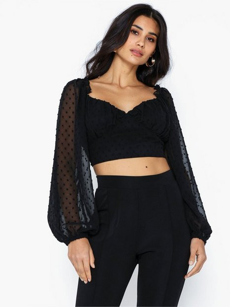Missguided Dobby Of the Shoulder Top Festblusar